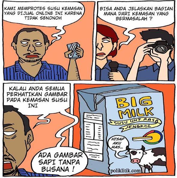 komik strip ini sindir keadaan politik indonesia © 2016 Instagram/@poliklitik