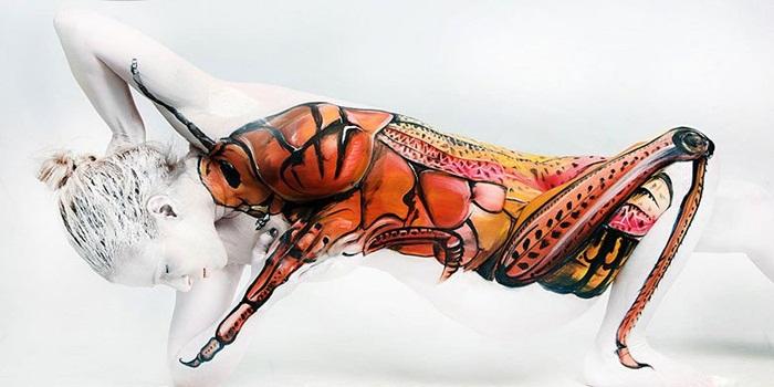11 Karya body painting seniman Jerman ini dijamin bikin kamu takjub