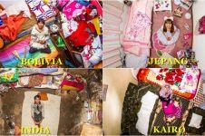 Ini isi kamar dari 20 orang di berbagai dunia saat difoto dari atas