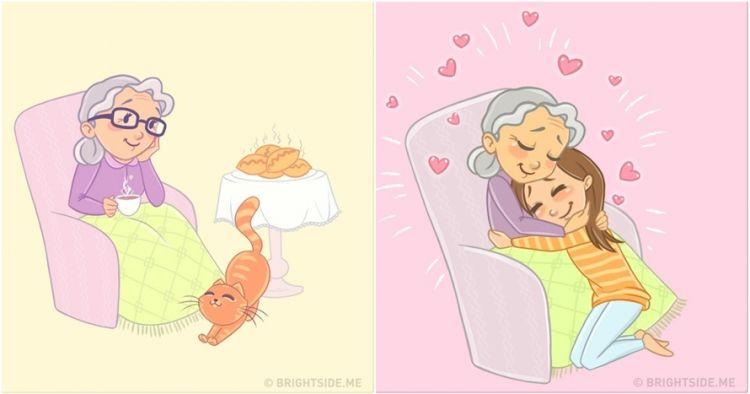 12 Ilustrasi ini dijamin bikin kamu mewek dan kangen sama nenek