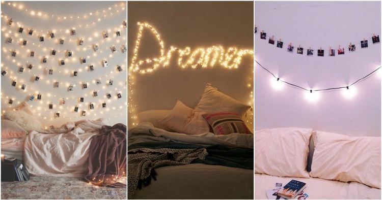 Dekorasi Kamar Tidur Lampu Tumblr | Desain Kamar Tidur