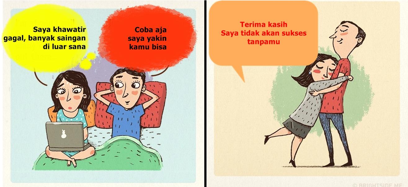 9 Ilustrasi ini tunjukkan bagaimana pasangan bahagia, kamu termasuk?