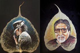 15 Lukisan tokoh dunia di daun kering ini buat berdecak kagum