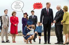 Ketika PM Kanada dicuekin pangeran cilik, duh sakitnya tuh di sini
