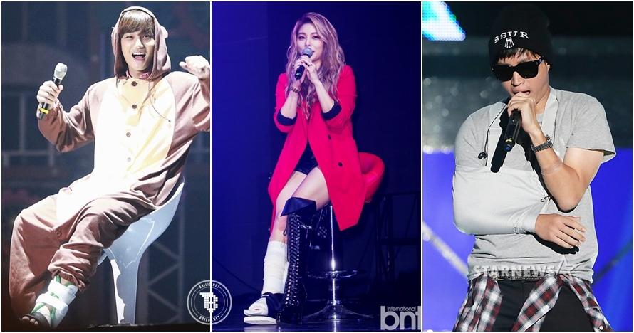 Demi fans, 7 bintang K-Pop ini rela manggung meski tengah cedera