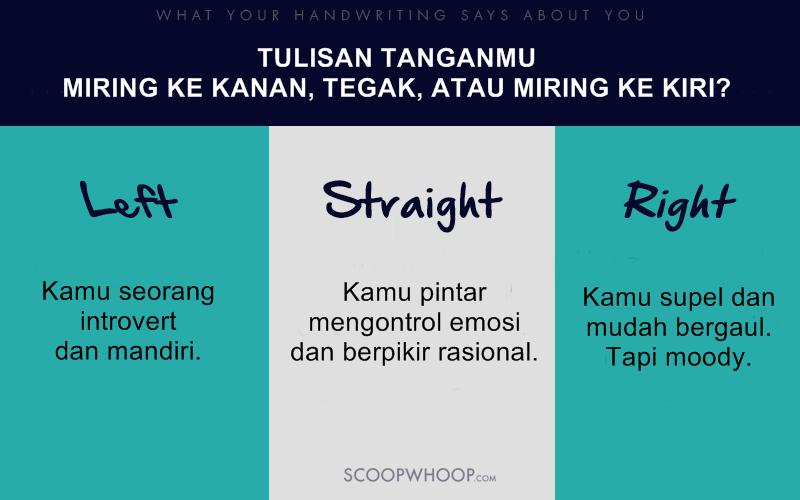 Tulisan tanganmu miring ke kanan, kiri, atau tegak? Ini lho artinya