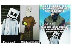 13 Meme asal usul dan tingkah Marshmello ini kocak, kreatif abis ya
