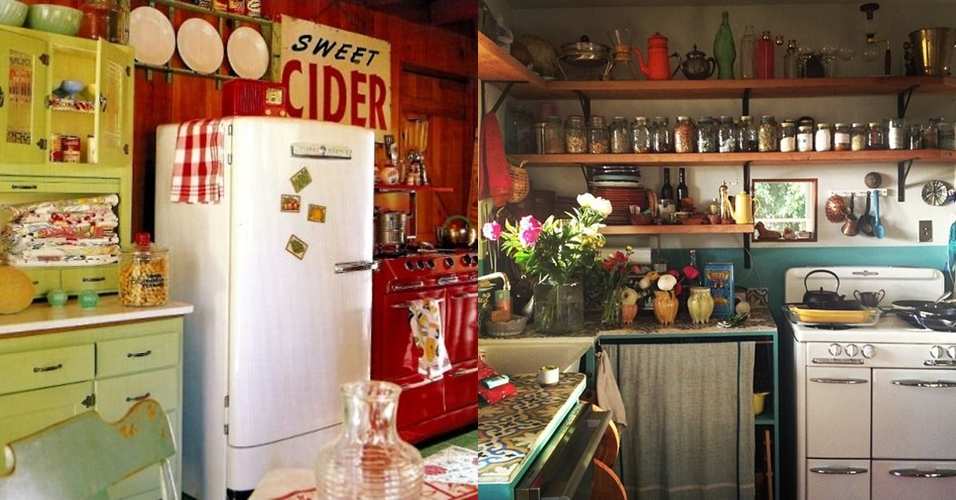 15 Desain dapur vintage buat kamu pecinta barang lawas