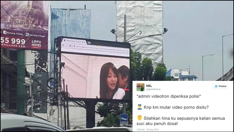 Ini reaksi-reaksi kocak netizen soal film porno di videotron Jaksel