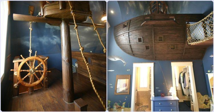 12 Foto kamar bertema bajak laut ini bikin serasa di tengah samudera