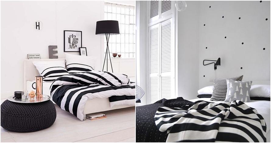 10 Dekorasi kamar serba hitam putih ini bisa bikin kamarmu