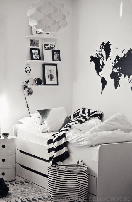 10 Dekorasi Kamar Serba Hitam Putih Ini Bisa Bikin Kamarmu Makin