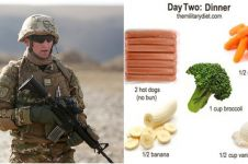 Ingin berat badan turun 4,5 kg dalam 3 hari? Coba diet ala militer ini