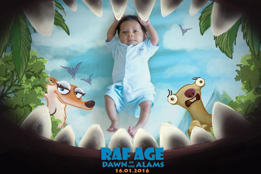 10 Foto editan Baby Rafaz jadi poster film ini bikin gemes