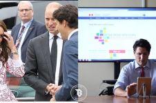 Pesona PM Kanada Justin Trudeau ini bikin Kate Middleton gagal fokus