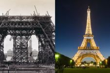 9 Foto lawas pembuatan bangunan ikonik dunia ini bikin takjub