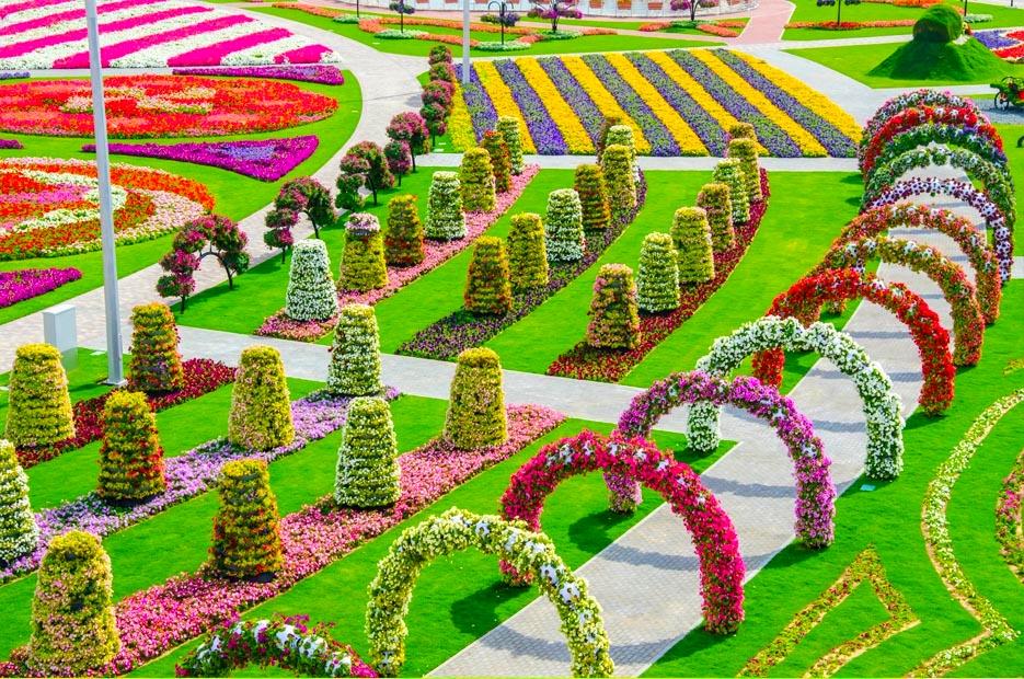15 Foto indahnya taman bunga di Dubai, dijuluki taman keajaiban