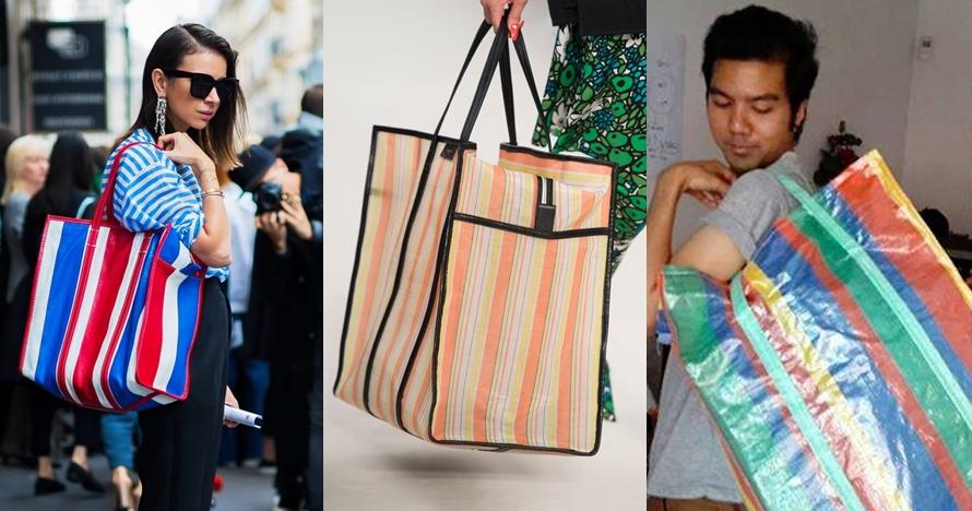 Mirip kantung belanja ke pasar, desain tas branded ini jadi lelucon