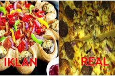 Lagi, 22 iklan vs real makanan cepat saji bikin bibirmu makin manyun