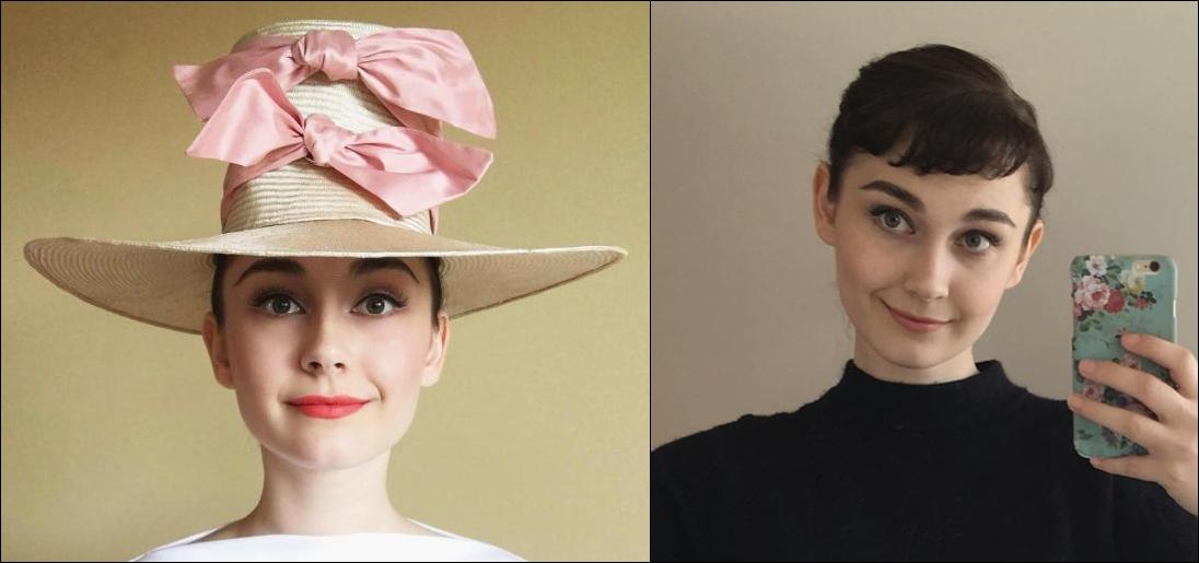 Annelies van Overbeek , selebgram hits 'kembaran' Audrey Hepburn