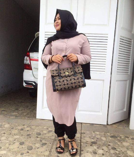 10 OOTD kece untuk kamu hijaber plus size, jangan takut berekspresi
