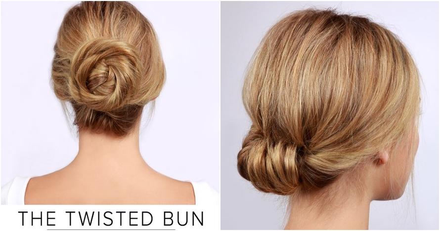 10 Style sanggul rambut kece ini simpel dan mudah kamu tiru 1881a47e3d