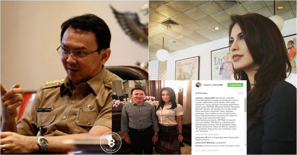 Unggah foto sama Ahok, Sophia Latjuba malah bikin netizen gagal fokus