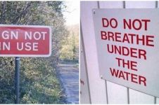 15 Tanda peringatan ini sia-sia banget, ngapain dibikin ya?