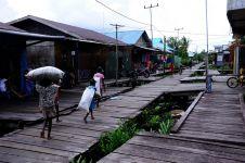 10 Foto Agats, kota di atas papan di Papua yang sungguh memukau
