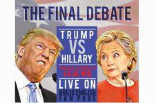 Final Debat Trump vs Hillary, tonton yuk di Brilio English Fan Page