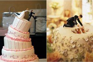 15 Kue pernikahan ini toppingnya lucu banget, bikin nggak tega makan
