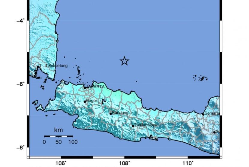 Gempa 6,5 SR guncang pantai utara Jakarta, Banten, dan Jawa Barat