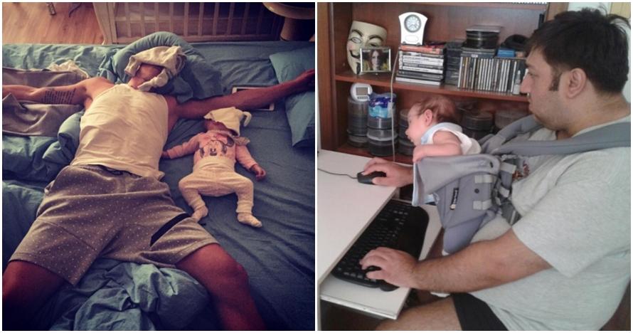 12 Foto ini tunjukkan perubahan pria setelah menjadi ayah baru