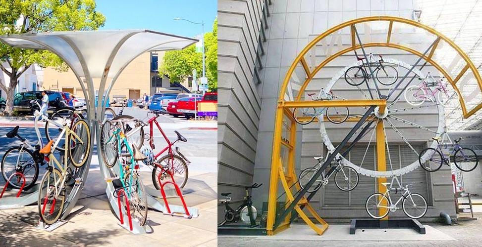 12 Tempat parkir sepeda unik, andai saja ini ada di Indonesia ya