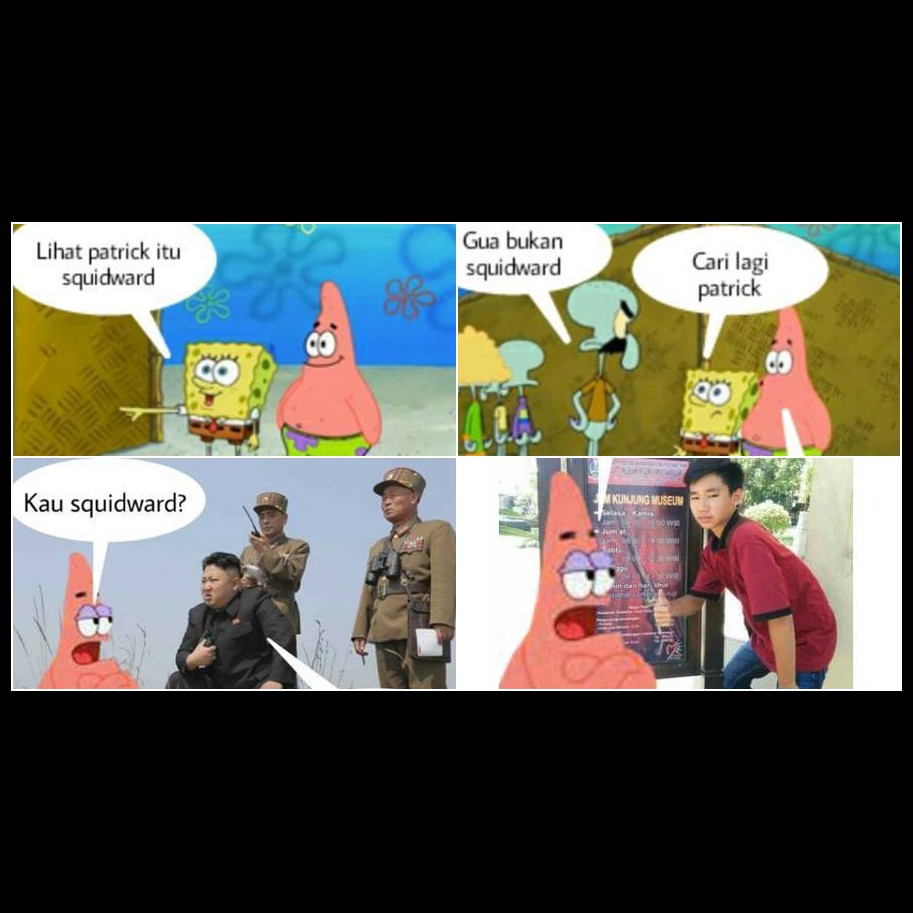 15 komik spongebob pattrick cari squidward ini kocaknya