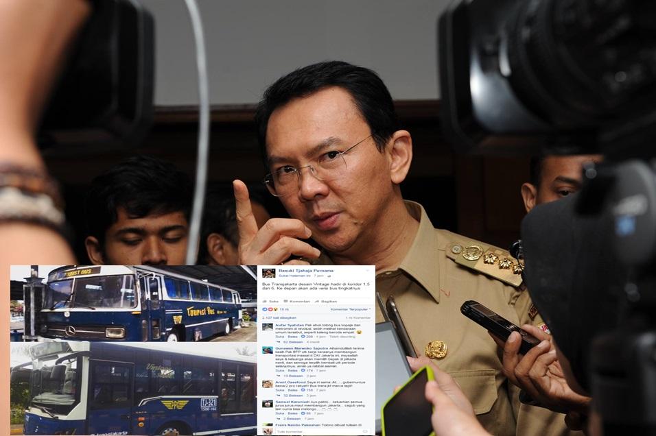 Bus vintage Transjakarta ini bikin Ahok tuai pujian netizen