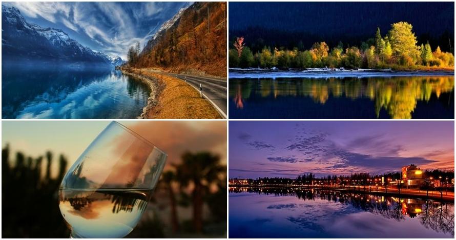 16 Foto refleksi air terbaik, kerennya ampun dah
