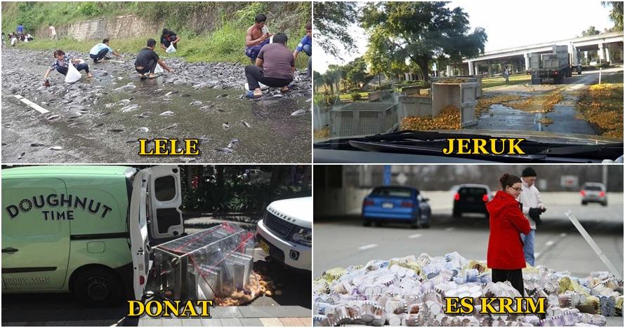 15 Foto hewan & makanan ini tumpah di jalan saat diangkut, sayang ya?
