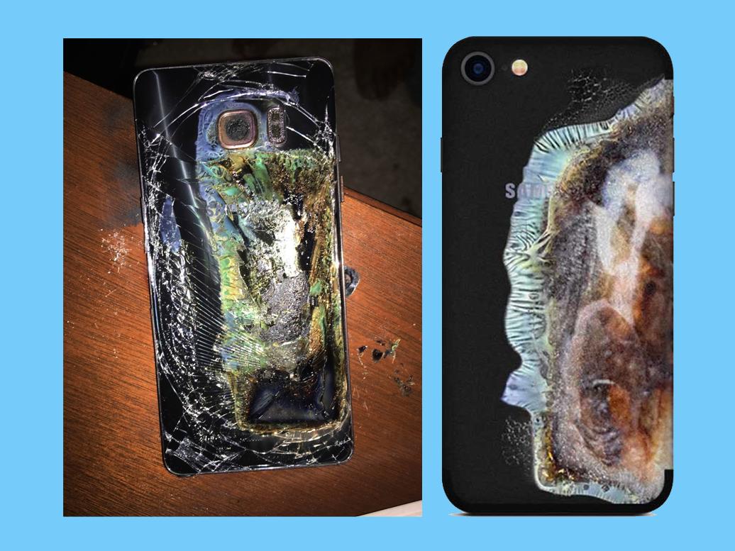 Uniknya casing ponsel ini, mirip Galaxy Note 7 yang meledak