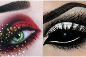20 Gaya makeup Spooky Eye ini artistik banget, terkesan serem nggak?