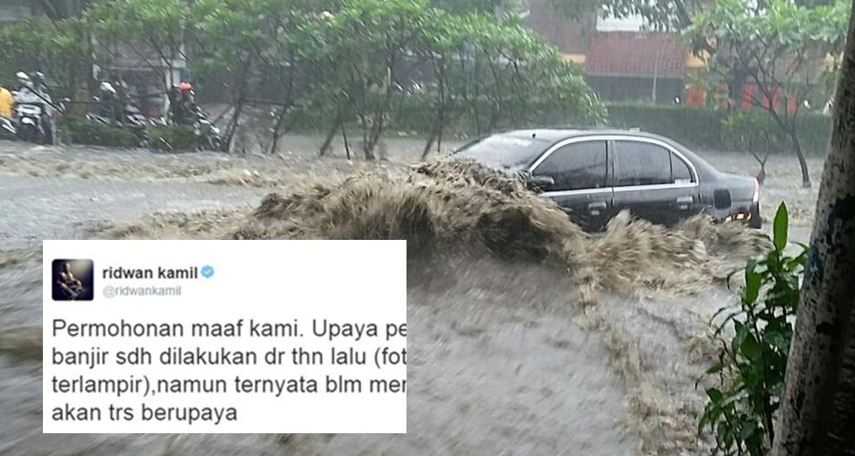 Bandung dilanda banjir, Ridwan Kamil sampaikan permohonan maaf