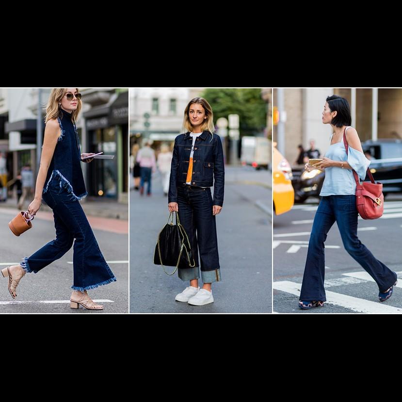 20 Gaya OOTD wide leg jeans ini lagi ngehits banget, cewek wajib coba