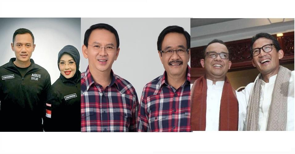 Ini tafsir netizen soal nomor urut Agus, Ahok dan Anies di Pilgub DKI