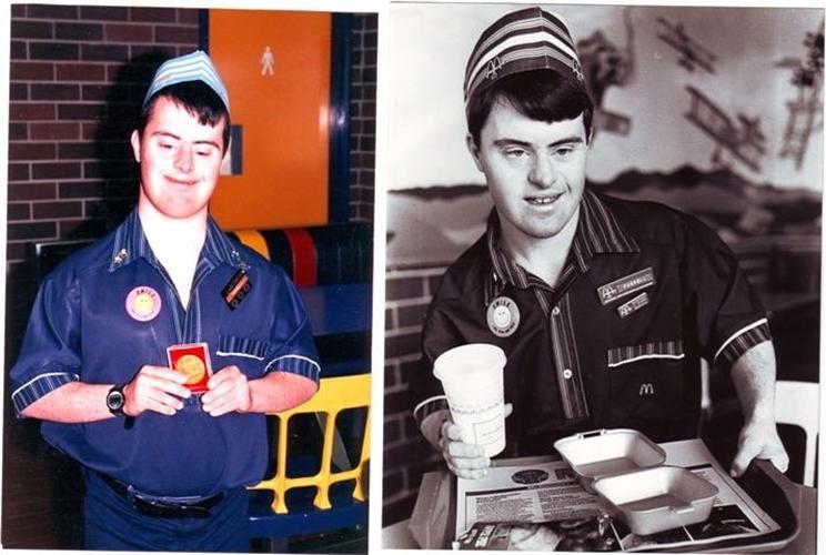 Pria down syndrome ini rayakan momen 30 tahun bekerja di McDonald's