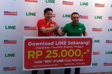 LINE dan Alfamart manjakan pengguna lewat program belanja