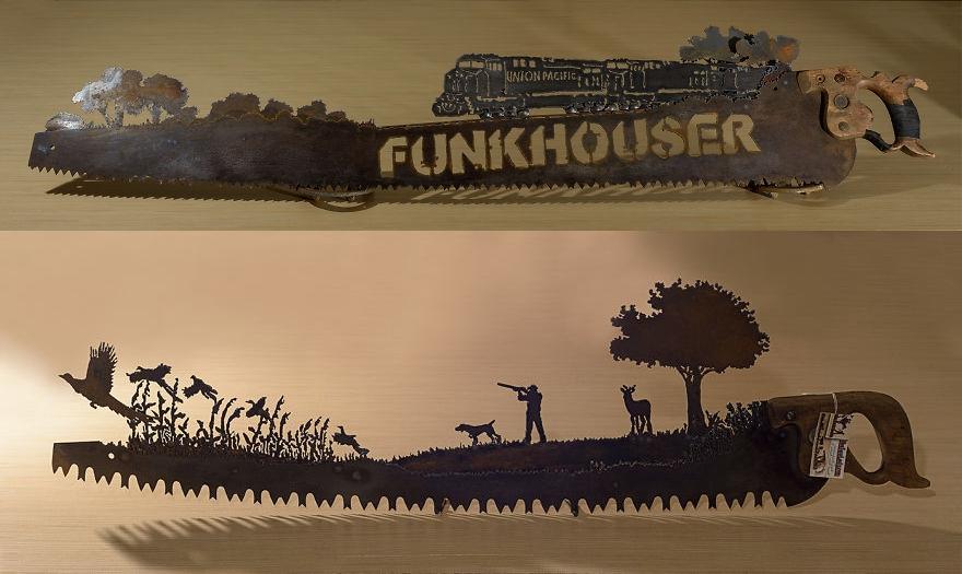13 Karya seni keren ini dibuat dari gergaji bekas yang berkarat