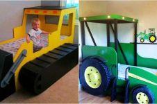 10 Inspirasi tempat tidur anak laki-laki bertema mobil ini keren abis