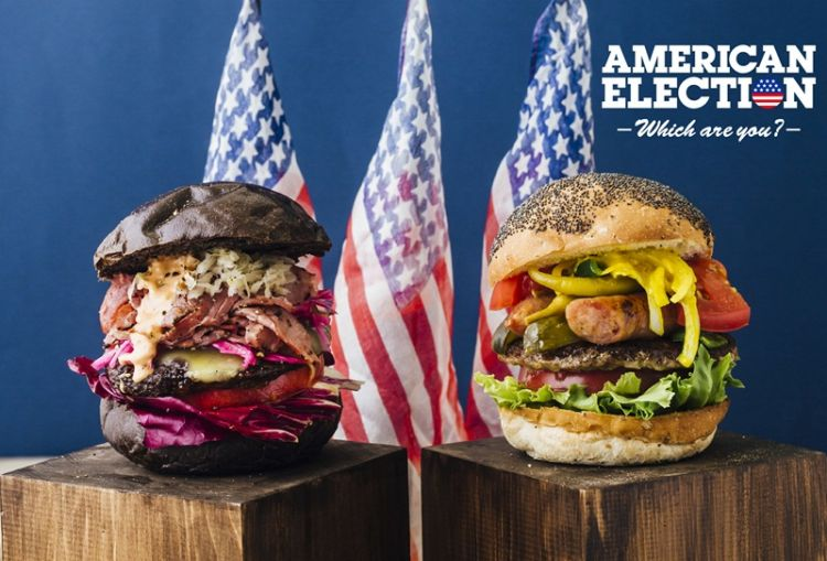 Terinspirasi Pilpres AS, restoran di Jepang ini sajikan burger unik
