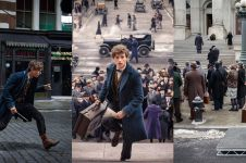 10 Foto behind the scene Fantastic Beasts, film prekuel Harry Potter