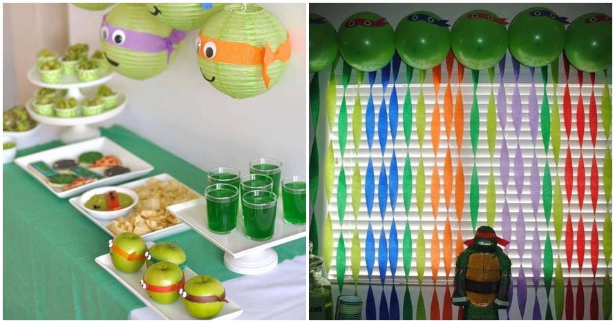 15 Foto dekor Kura-kura Ninja ini bisa jadi inspirasi acara ultah anak